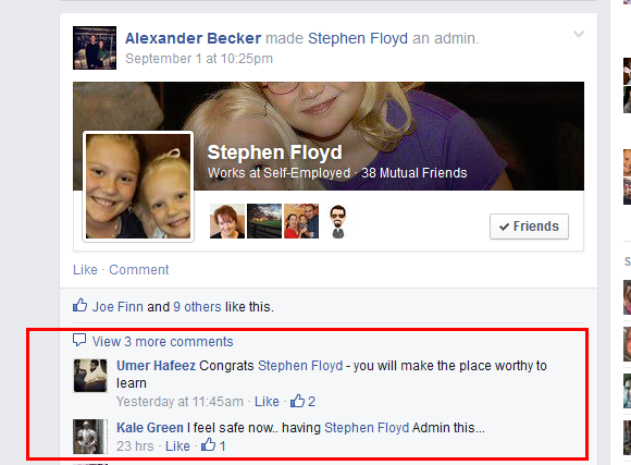Stephen FLoyd admin of PBN week group